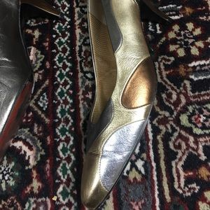 Selby Gold/ Silver shiny pumps